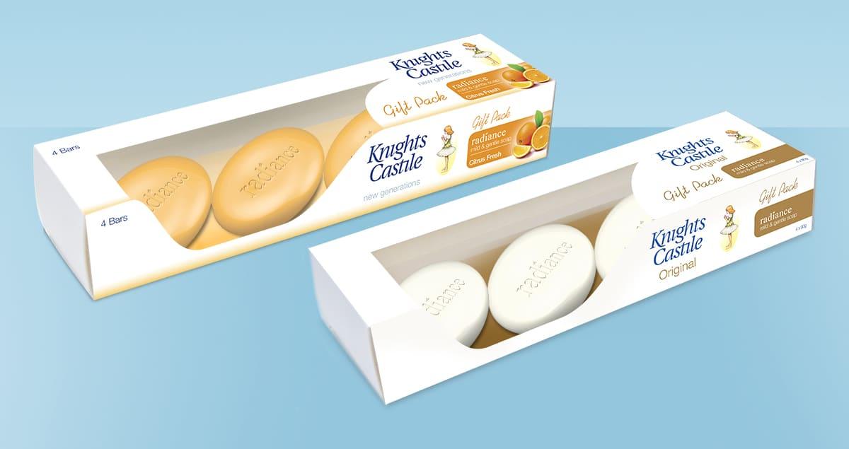 Packaging design for Knights Castile