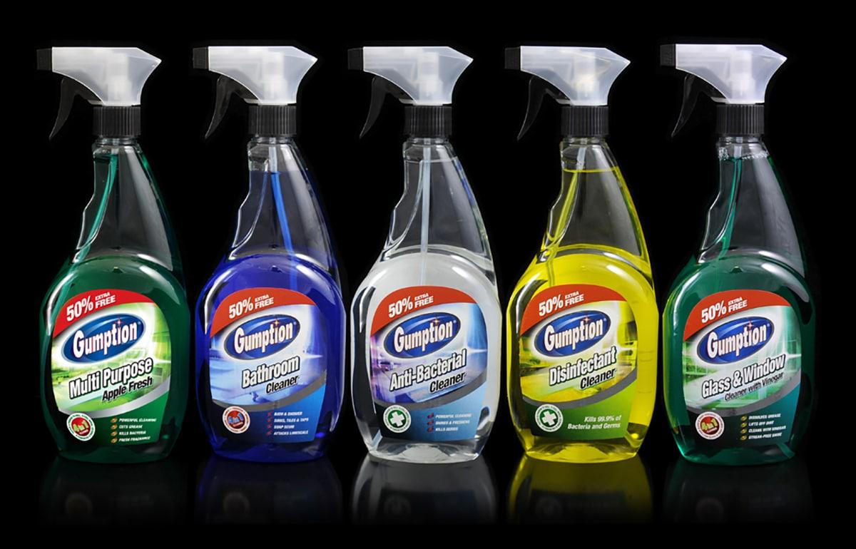 Label design for trigger sprays