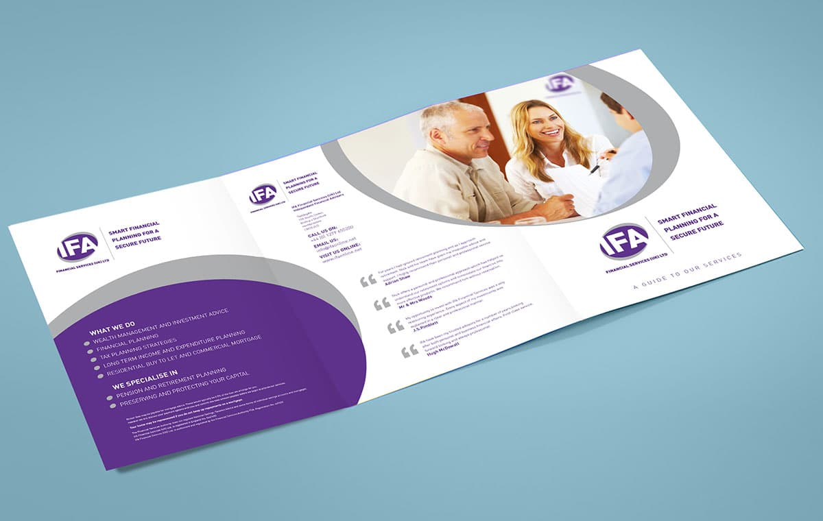 Brochure front cover design