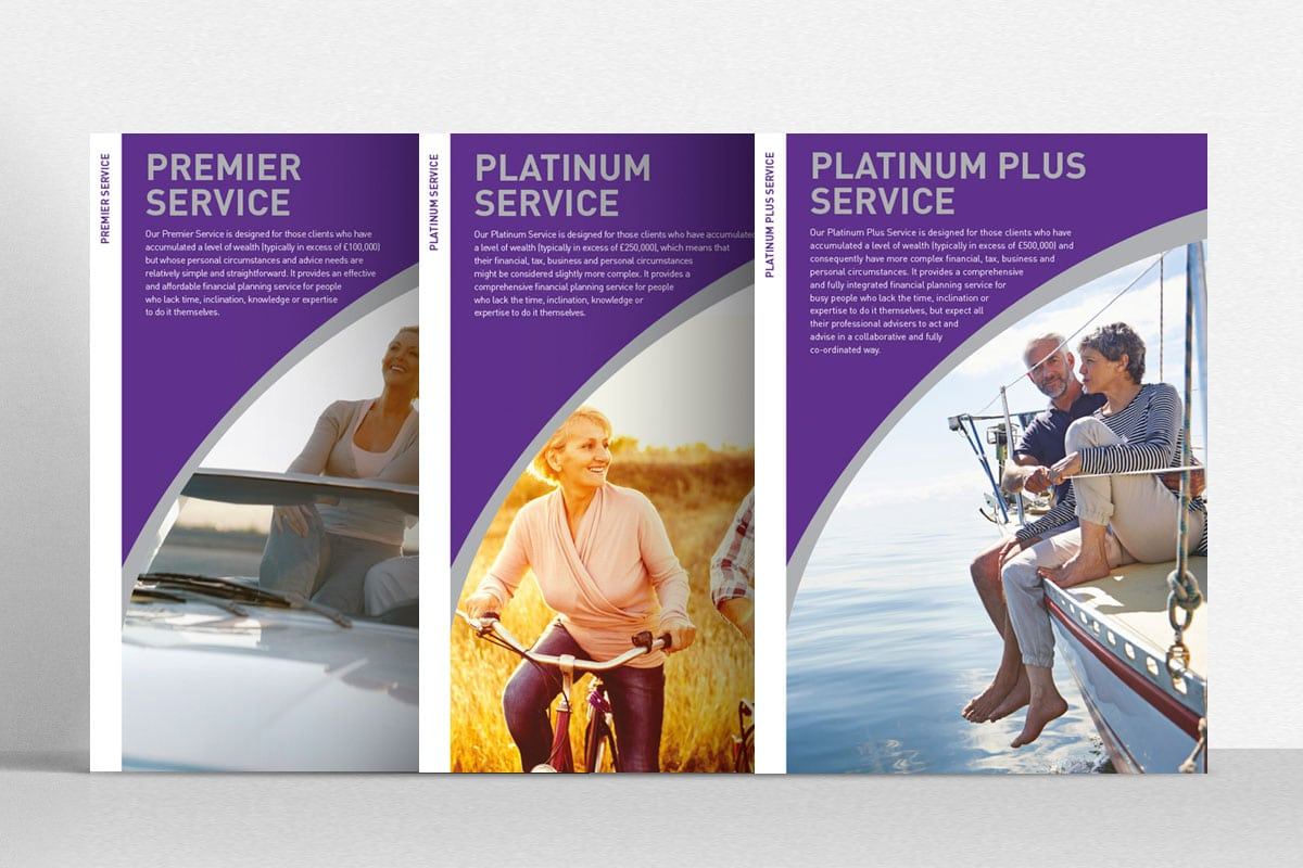 brochure design and inserts for a local herts company insync creative