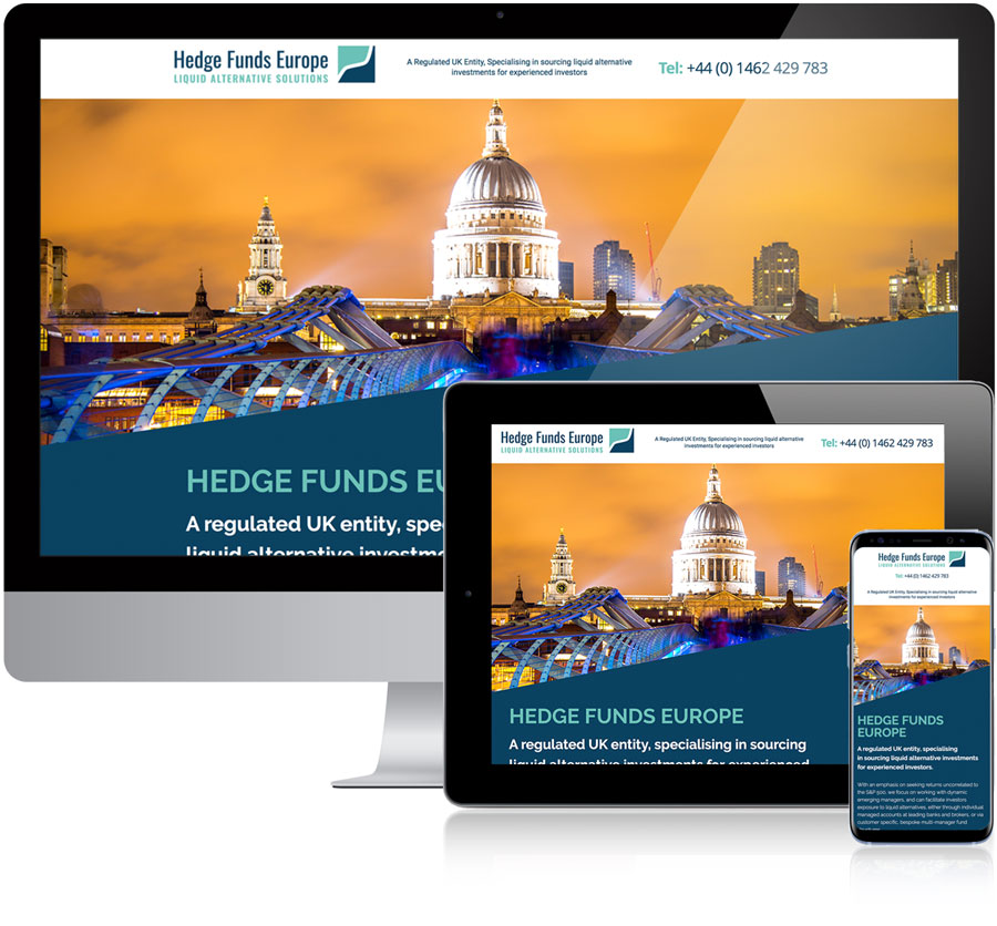 Hedge Funds Europe Website design